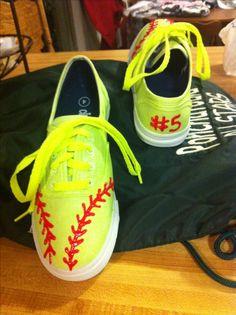 Softball Tennis Shoes! So cool!