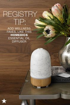 Whether guests are coming over or you could just use some aromatherapy, this essential oil diffuser from Homedics should be on your list. Add this to your Macy's Registry along with all your fave scented oils to make sure you are fully stocked and your home always smells oh-so wonderful. Head to macys.com now!
