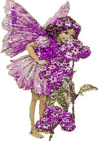purple little girl glitter fairy