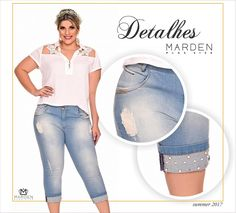 Cropped jeans - plus size