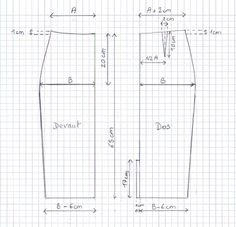 Tuto DIY jupe taille haute, explications