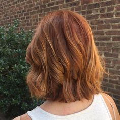 """#copper tones.. Used the new #Goldwell #colors 8n@KK and 1/4 8n@BS then toned…"