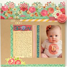 A Project by brennatay from our Scrapbooking Gallery originally submitted at AM Baby Scrapbook Pages, 12x12 Scrapbook, Scrapbook Designs, Scrapbook Sketches, Scrapbook Paper Crafts, Scrapbook Supplies, Scrapbooking Layouts, Paper Crafting, Greeting Cards Handmade