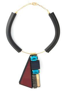 Marni Contrasting Panel Necklace - Eraldo - Farfetch.com