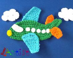 Crochet Applique airplane