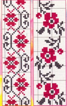 Hand Embroidery Dress, Embroidery Patterns, Cross Stitch Patterns, Beading Patterns Free, Beaded Bracelet Patterns, Knitting Projects, Sewing Projects, Bordados E Cia, Tapestry Crochet