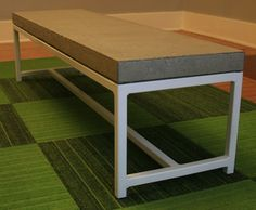 Concrete Coffee Table on a Steel Frame by formd on Etsy https://www.etsy.com/listing/80004805/concrete-coffee-table-on-a-steel-frame