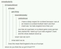 England is the America of Europe