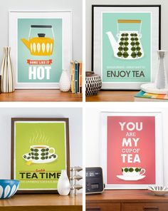 Retro tea prints... For the dining room? p.s. @Ashley Walters Walters Turner, if you're not following the board this came from, you should. You'll love it.