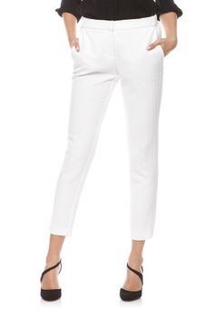 Pantaloni office cu model in relief P009-I ivoire -  Ama Fashion