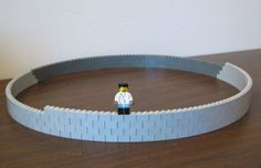 curved wall - 1x2 Bricks with 1 stud off set - 84 bricks