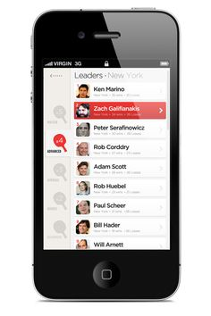 Social Ping Pong App by Brian Waddington, via Behance