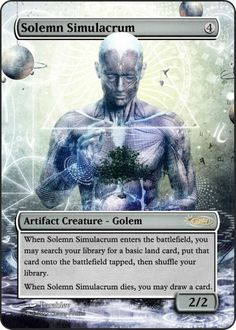 Magic The Gathering Solemn Simulacrum Proxy