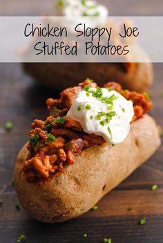 Chicken Sloppy Joe Stuffed Potatoes
