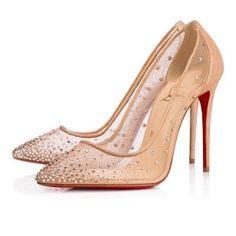 f62379c56ec8 Follies Strass 100 Version Light Silk Suede Lame - Women Shoes - Christian  Louboutin