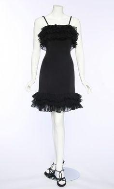 c8fb0d4ab82 Anthony Designs Originals -- little black dress (Cha Cha Dress) Silk  Chiffon,