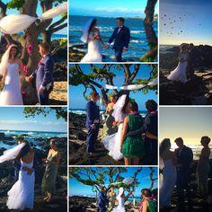 Beautiful, blustery wedding on Sunday! www.SimpleKonaBeachWeddings.com #simplekonabeachweddings #konawedding #hawaiiwedding Kona Beaches, Kona Coast, Beach Weddings, Hawaii Wedding, Big Island, Hawaiian, Sunday, Simple, Beautiful