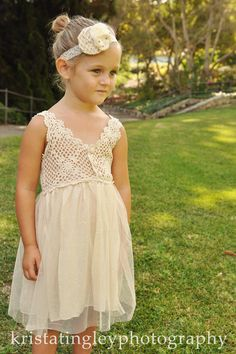 Crocheted Dress | 41 Flower Girl Dresses That Are Better Than Grown-Up People Dresses
