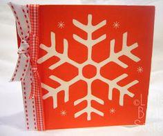 Christmas Napkin Cards | Make this snowflake DIY card from napkins!