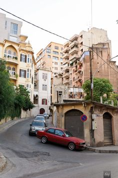 Taleet Jounblat (طلعة جنبلاط) - the infamous street in Ras Beirut, Lebanon.