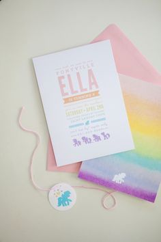 My Little Pony Birthday Invitations | Designed by Orange Paper Shoppe | Photo by Kristina Lee Photography