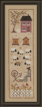 Punto De Cruz Jardin Prive' ~ Histoires de Moutons 4 - If you want to stitch all 4 parts together, the layout is shown in one of the photos. Sheep Cross Stitch, Cross Stitch Letters, Cross Stitch Samplers, Cross Stitching, Embroidery Sampler, Cross Stitch Embroidery, Embroidery Patterns, Stitch Patterns, Cross Stitch Designs