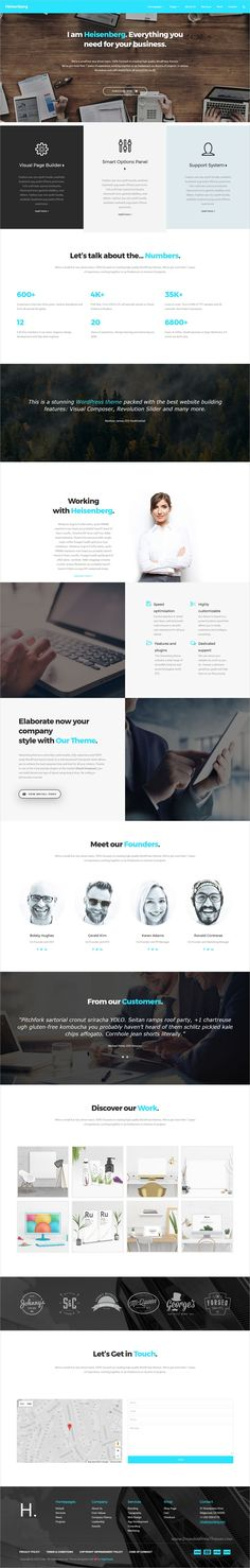 Heisenberg is a flexible and powerful responsive #WordPress theme for #webdev stunning #corporate websites with 10+ unique homepage layouts download now➩ https://themeforest.net/item/heisenberg-multipurpose-wordpress-theme/19188422?ref=Datasata