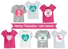 Valentine T-shirt transfers