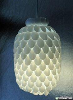 plastic-spoon- epic chandelier