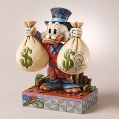Disney Traditions Uncle Scrooge McDuck Figurine by Jim Shore, 4027137 available at Flossie's Gifts and Collectibles Deco Disney, Arte Disney, Disney Magic, Disney Duck, Disney Mickey, Disney Pixar, Disney Bound, Disney Figurines, Collectible Figurines