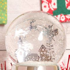 Christmas Musical Snow Globes Palle Neve Pinterest
