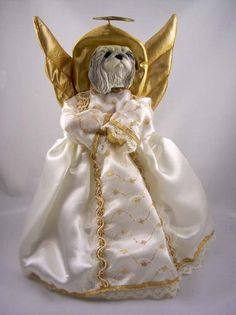 Pekingese Angel Tree Topper Set of 3 *** Details can be found by clicking on the image.