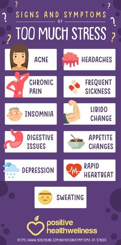 11 Signs And Symptoms Of Too Much Stress – Positive Health Wellness Infographic