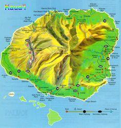 Map of #Kauai #kauailife #hawaiilife #map  www.hawaiilife.com
