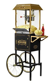 Nostalgia Oil Table-Top Popcorn Maker at Lowe's. Making hot, fresh and delicious popcorn just like in the movie theaters! A large, stainless steel kettle with a built-in stirring system pops up to 10 Kettle Popcorn, Popcorn Cart, Popcorn Bowl, Popcorn Maker, Popcorn Stand, Popcorn Kernels, Coconut Oil Popcorn, Movie Theater Popcorn, Popcorn