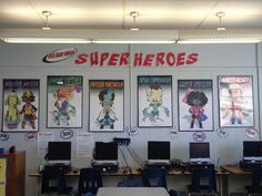 Great classroom theme for any ELA teacher!  All of the superheroes were created specifically with specific skills (comprehension, listening, punctuation, reading, spelling, and writing) portrayed in the artwork. http://www.teacherspayteachers.com/Product/Reading-Superheroes-Classroom-Theme-745218