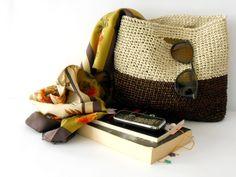 Borsa elegante a uncinetto in rafia, stile '60 di cose di isa su DaWanda.com