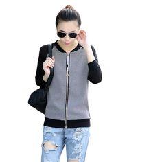 Aliexpress.com  Comprar Primavera chaqueta de bombardero mujeres básica  abrigos casual plaid coat mujeres chaqueta 2017 slim chaquetas mujer casaco  feminino ... f7474d3a7219