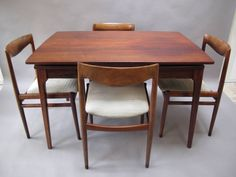 Niels Otto Moller - Diningset, Brazilian Rosewood Table With four Chairs door KUHNEDESIGN op Etsy