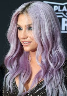 lilac hair kesha - Google Search
