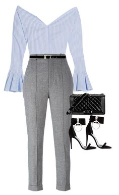 """""""Sem título #1479"""" by oh-its-anna ❤ liked on Polyvore featuring Jacquemus, Isabel Marant, Chanel, Nine West and Off-White"""