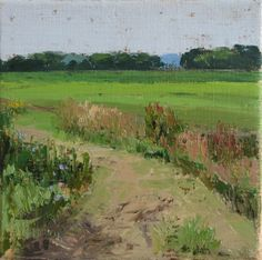 Gemaaid pad x 20 cm) 2014 Amsterdam, Golf Courses, Vineyard, Outdoor, Surface, Paintings, Texture, Art, Pintura