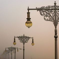 Art Nouveau Street Lights in Prague ** This is the inspiration for the shelf brackets that are being made for the new retail premises. Art Nouveau Arquitectura, Lantern Lamp, To Infinity And Beyond, Lamp Light, Artsy, Decoration, Illustration, Poster, Pictures