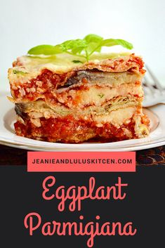 Eggplant parmigiana is such a classic and this version is a showstopper! The fried eggplant is layered with an amazing sauce and four cheeses. Cooking Recipes, Healthy Recipes, Vegetarian Recipes, Italian Recipes, Italian Menu, Italian Table, Italian Foods, A Food, Dinner Recipes