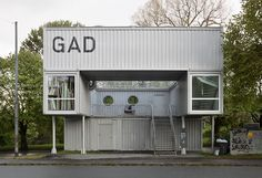 GAD Shipping Container Gallery- Norway// this model. Shipping Container Conversions, Shipping Container Buildings, Shipping Container Design, Used Shipping Containers, Cargo Container Homes, Container Shop, Container House Design, Casas Containers, Container Architecture