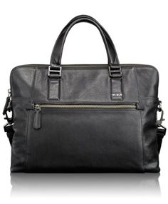 Tumi Luggage Beacon Hill Branch Slim Laptop Briefcase Exquisite leathers, softly structured styles and tumi's legendary design come together in the classic Tumi, Laptop Briefcase, Laptop Bag, Leather Briefcase, Fossil Handbags, Work Bags, Black Leather Bags, Cloth Bags, Luggage Bags