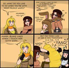 image Rwby Anime, Rwby Fanart, Video Games Funny, Funny Games, Yuri Comics, Rwby Bumblebee, Pokemon Ash And Serena, Rwby Memes, Rwby Red