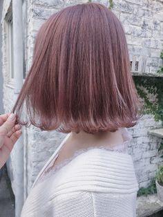 Korean Short Hair, Lavender Hair, Hair Goals, Lace Skirt, Short Hair Styles, Hair Color, Hairstyle, Pink, Women