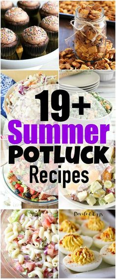 Ready for Summer Picnics? I'm sharing over 19 of my favorite Summer Potluck Recipes for your next summer potluck! From savory to sweet, I've got you covered with all sorts of delicious tried and true potluck recipes!