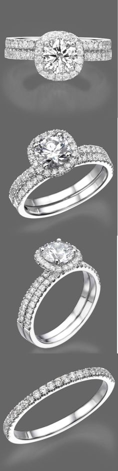 Diamonds and Gemstones 92909: 2 Carat Round Cut Diamond Engagement Ring Band Set D/Si1 14K White Gold Enhanced -> BUY IT NOW ONLY: $2779.0 on eBay!